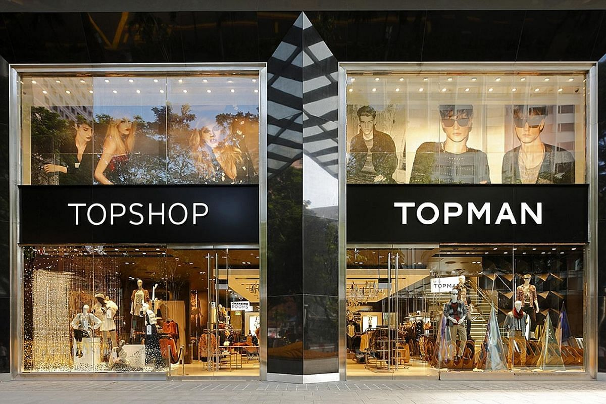 Topshop has been a front runner in releasing celebrity and designer collaborations, such as with British supermodel Kate Moss (left, wearing a dress from the Topshop Christmas collection in 2007) and pop star Beyonce's athleisure brand Ivy Park (righ