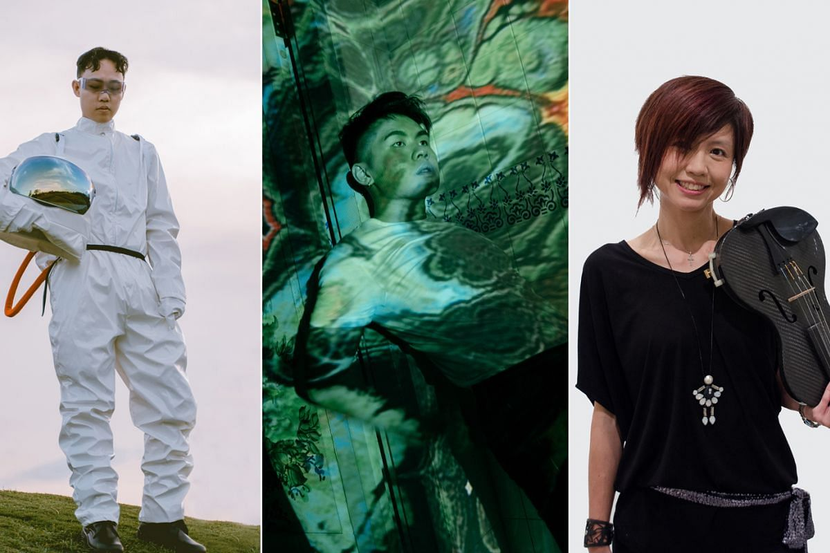 Artists such as (from left to right) Jaye Foo, Dominic Chin and Eileen Chai have put out music that broaches the previously taboo subject of mental health.