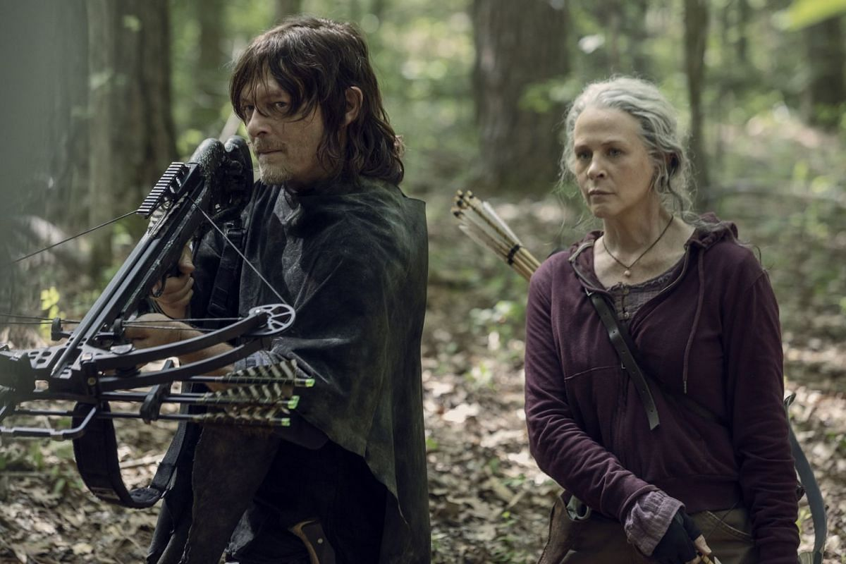 The Walking Dead's Norman Reedus and Melissa McBride (both above), who play fan favourites Daryl and Carol respectively, have been with the show since it launched in 2010.