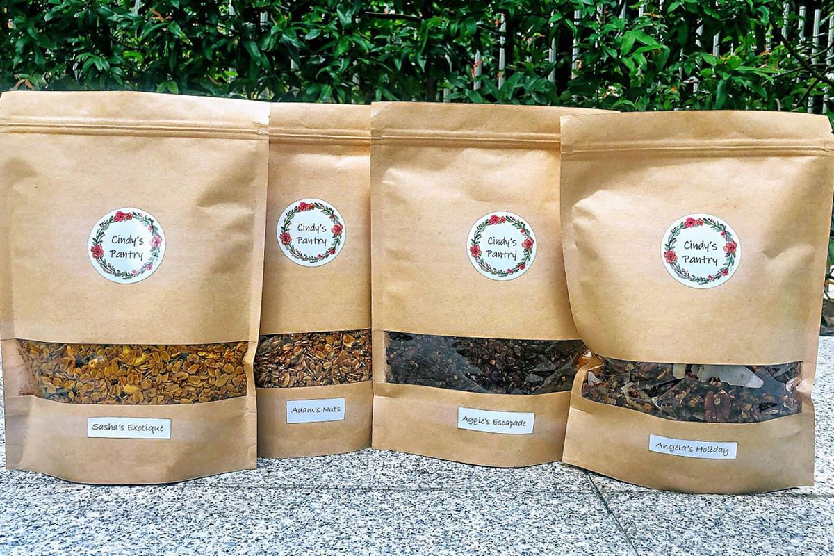 To encourage conscious eating, Ms Cindy Wong sells homemade granola that uses only natural sugar and ingredients from trusted brands. Ms Cindy Wong was diagnosed with Stage 1a breast cancer at age 29 and later found to have the BRCA1 gene mutation, w