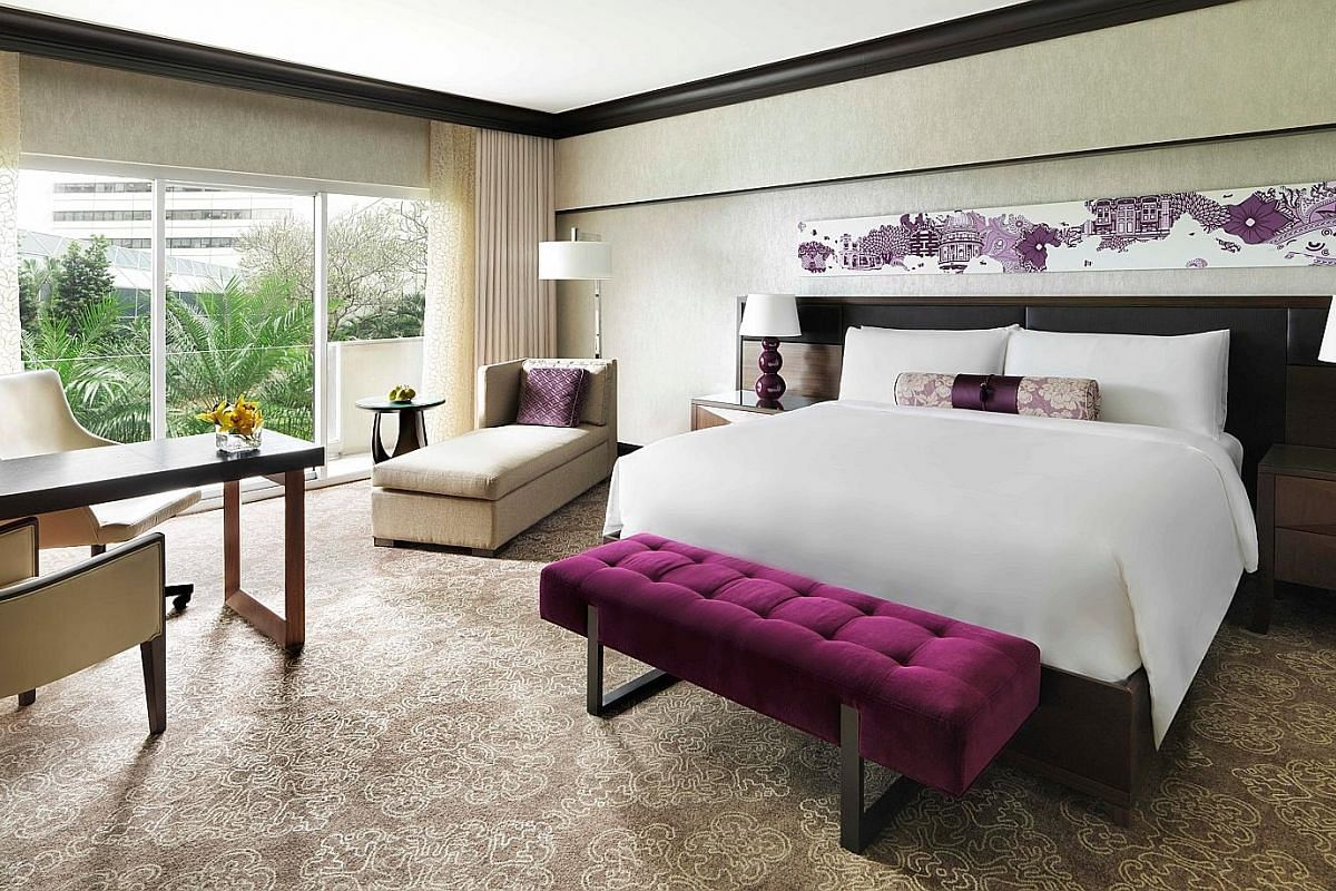 """Fairmont Singapore's """"Mumcation"""" package includes a 90-minute aromatherapy massage at Willow Stream Spa, afternoon tea (above, right) at Anti:dote tea lounge and bath products from Lush Singapore (above, far right)."""