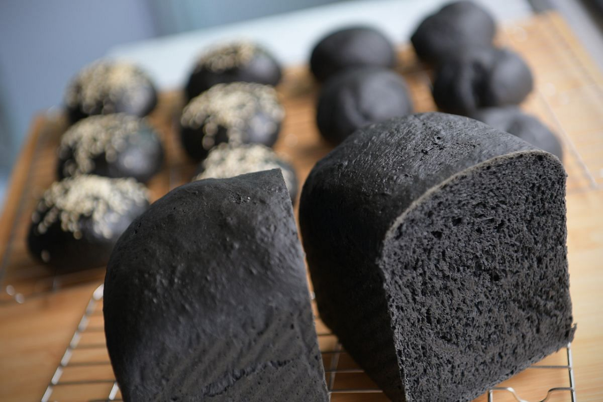 The dough used to make charcoal bread is versatile and quite easy to work with.
