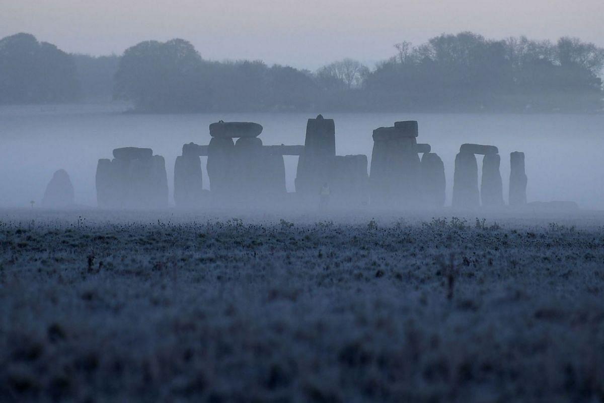 Stonehenge ancient stone circle is seen at dawn, near Amesbury, Wiltshire, Britain, November 4, 2020.