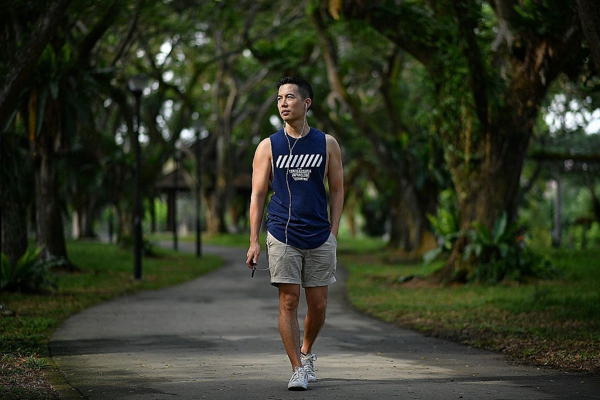 IN STEP WITH NATURE: Theatremaker Tan Shou Chen's stroll in Pasir Ris Park led to an audio drama, A Bird Calls You To Moscow.