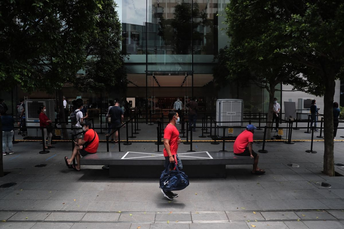 #SPACE: Members of the public observing social distancing at Apple Orchard Road in Knightsbridge mall on Sept 25, 2020. This year seems to be all about managing the physical spaces between us, wherever and whatever we do.