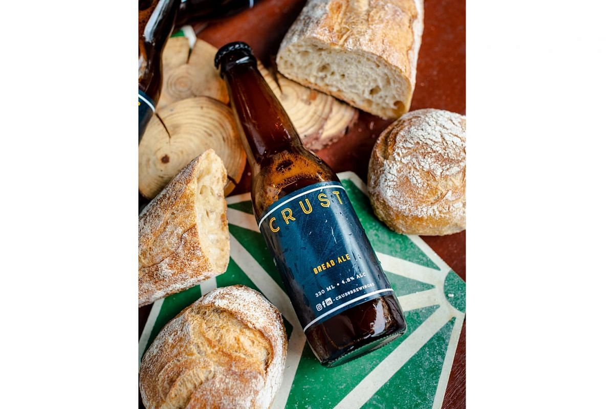 Beer made from unsold bread by local brewery Crust Brewing (above) is among the items sold at the Virtual Green Christmas Market.