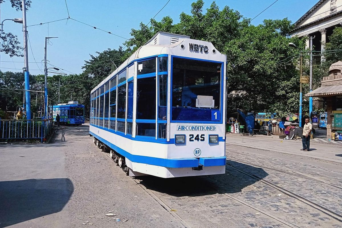 The West Bengal Transport Corporation has tried to make tram services more appealing by introducing air-conditioned services, a tram library, and Wi-Fi on board.