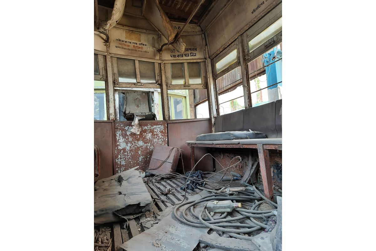Kolkata's tram depots are littered with decaying tramcars.