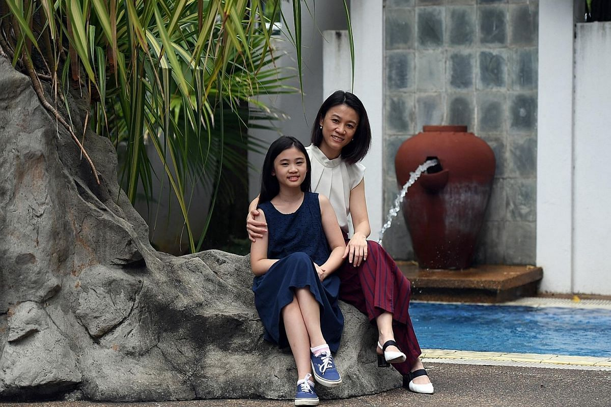 Manager H'ng Shiau Chen, 40, who had gestational diabetes while pregnant with her daughter Kylie, 10 (both above), switched to a low-sugar diet and started eating more protein after the diagnosis. Business development manager Veronica Teo, 30, seen h