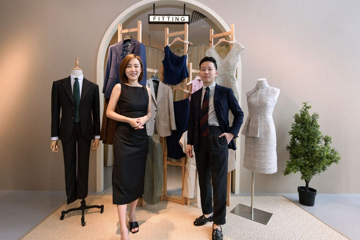 Married couple Ken Zhou and Lyn Kua are the founders of menswear tailor Assemble and its sister brand Accent, which launched ready-to-wear pieces (above) that can be customised via a made-to-order option.