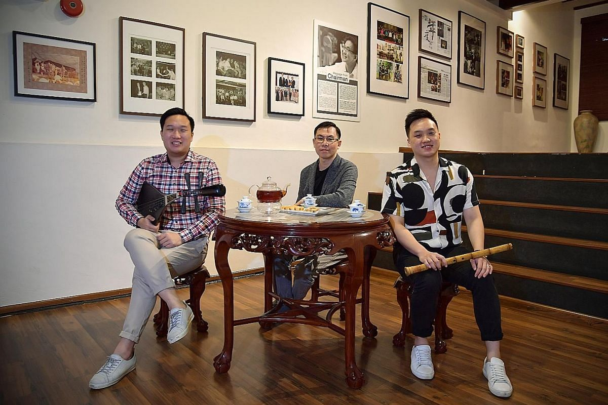 Siong Leng Musical Association's Fantasia - Nanyin Reimagined is a musical journey recapping its 80-year history. Behind the production are (from far left) head of programming and principal artiste Seow Ming Fong; composer, arranger and music directo