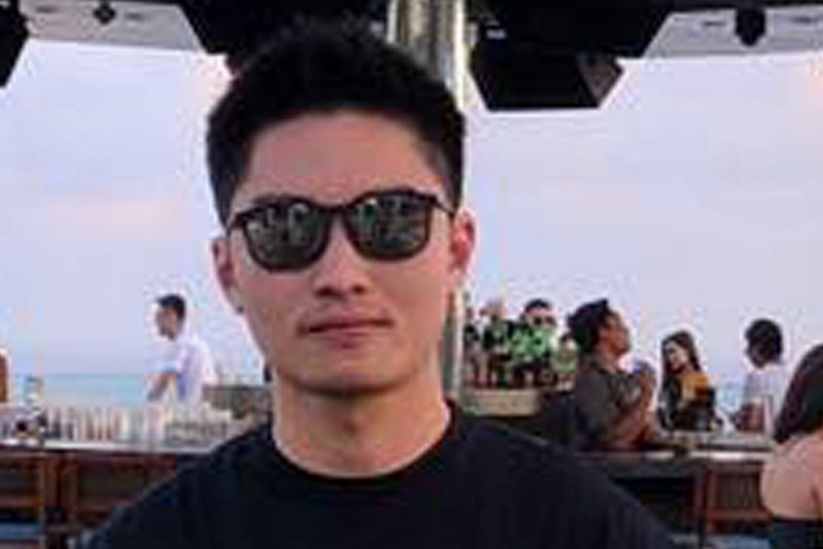 Mr Jonathan Long, Mr Eugene Yap, Mr Elvin Tan Yong Hao (above) and Mr Gary Wong Hong Chieh were in a BMW M4 coupe with Mr Teo Qi Xiang when the car crashed in Tanjong Pagar at about 5.40am yesterday. All five men had at one time worked as representat
