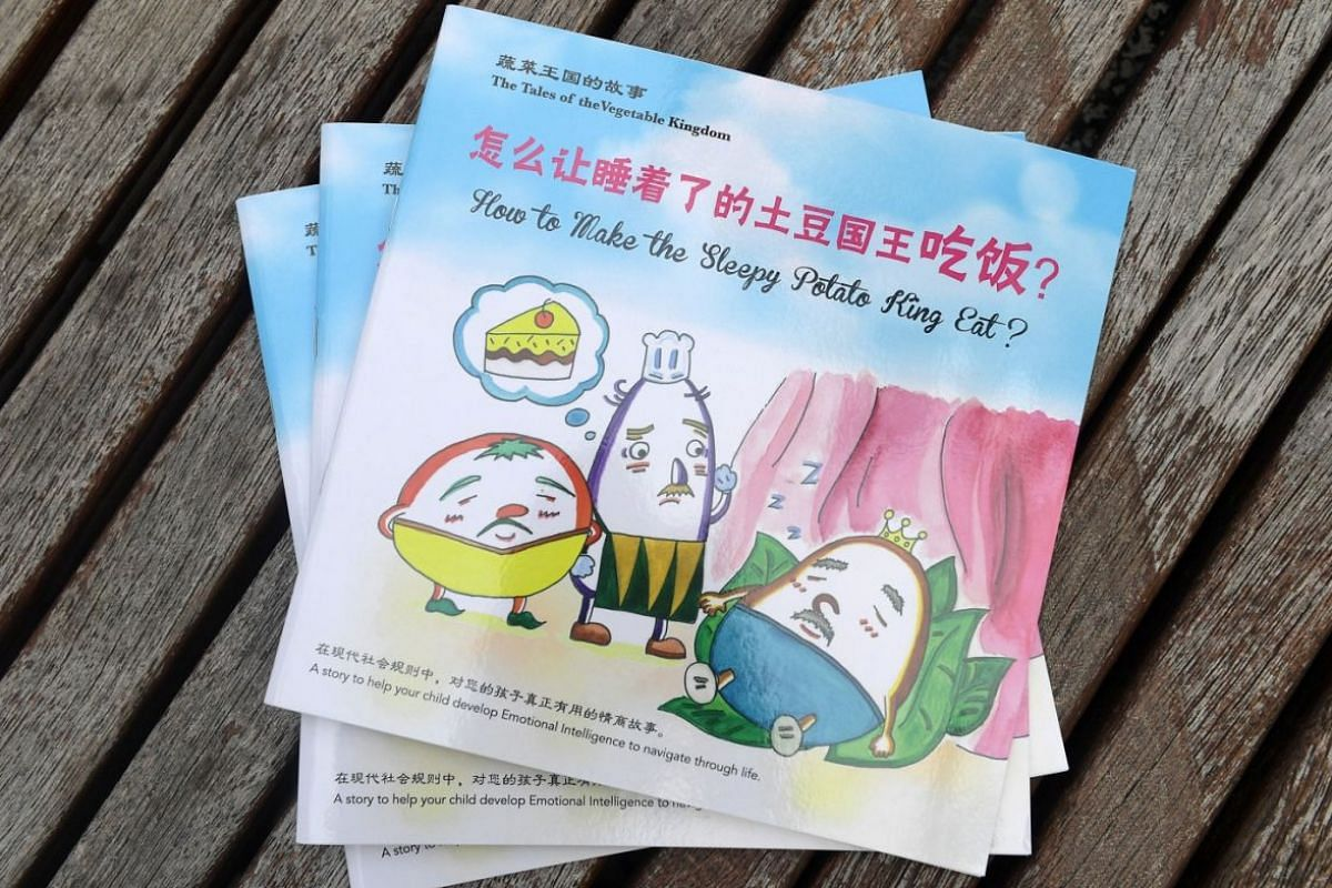 Ms Yu rediscovered her love of drawing and published bilingual picture book The Vegetables' Kingdom as a gift for her baby.