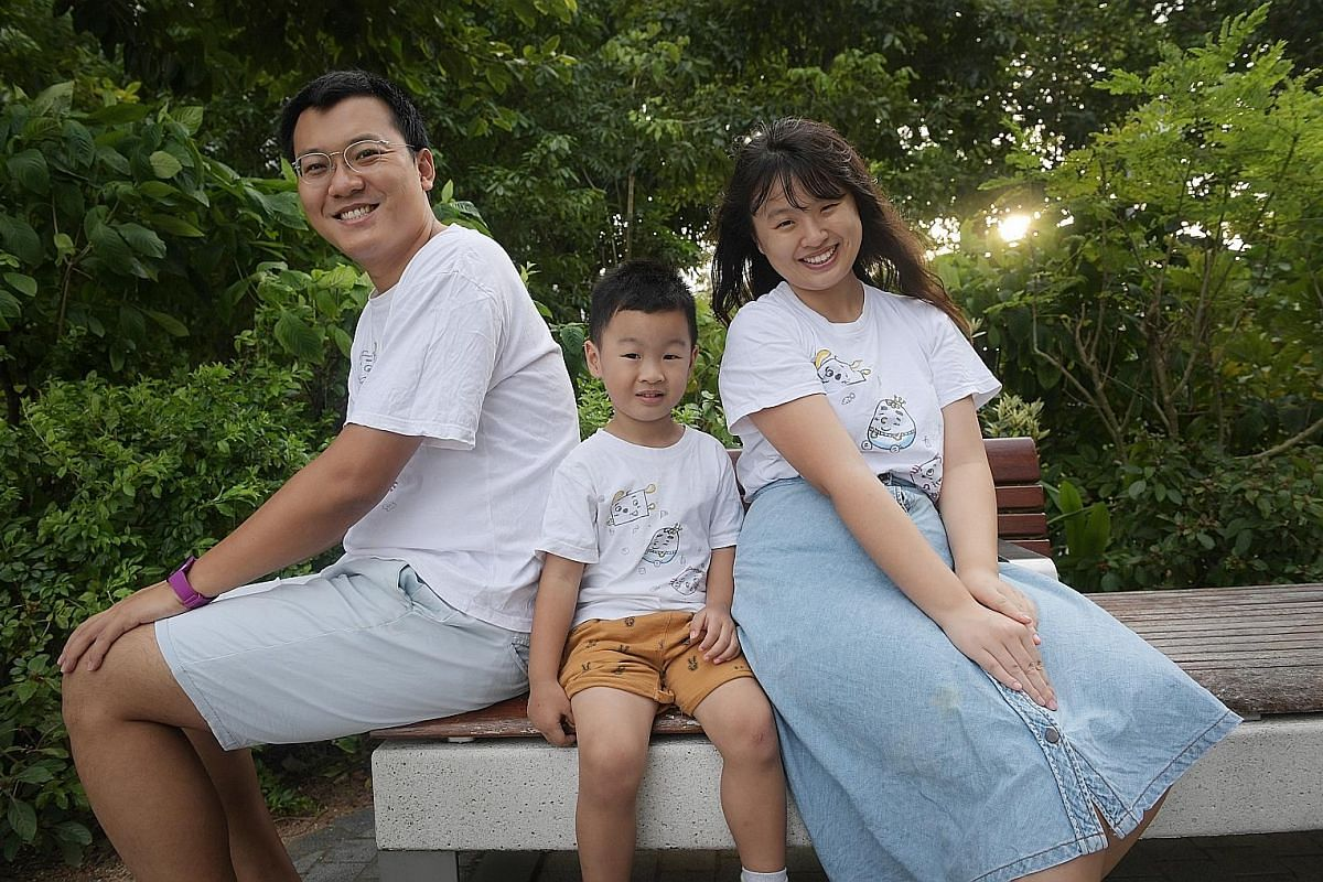 Ms Yu rediscovered her love of drawing and published bilingual picture book The Vegetables' Kingdom as a gift for her baby. Ms Alice Yu, 29, overcame pregnancy blues with the help of her husband Jim Song, 32, who suggested she pick up a hobby to dest