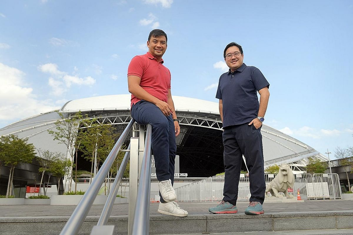 Yip Ren Kai (left) and Mark Chew, the two managing directors of Reddentes Sports, hope to grow Singapore sport's ecosystem, as they believe that all stakeholders will also develop.