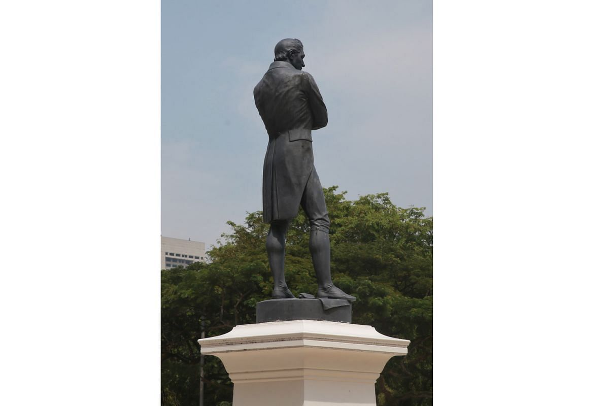 The Foot Of The Sir Stamford Raffles Statue