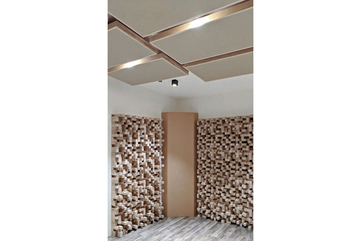 Damping or reducing resonance in a room can be done with sound-absorbing panels, which can be easily added to walls with minimal or no renovation.