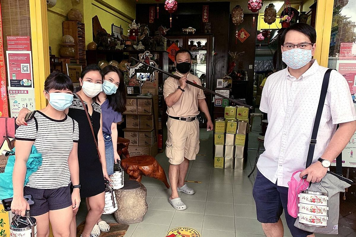 Indie Singapore's Traditional Taste Tour includes a visit to tea merchant Pek Sin Choon (above). Participants also take home a free vintage tiffin carrier. Let's Go Tour Singapore runs Thai, Hainanese and Hokkien cooking classes at its Crawford Lane