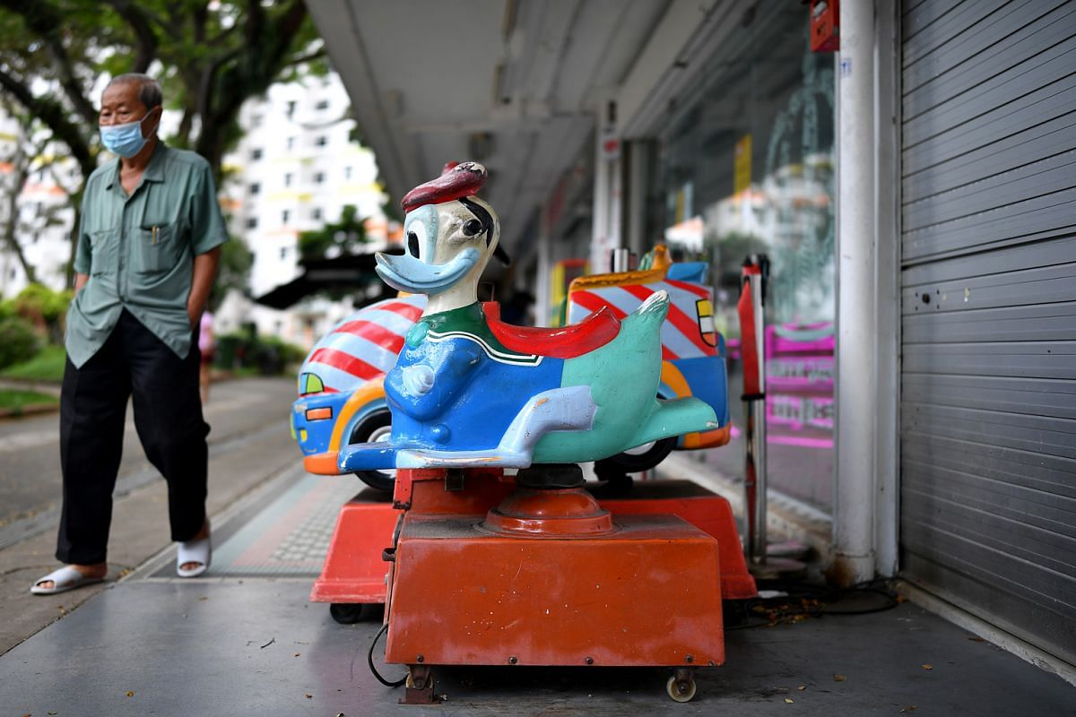 Kiddy rides outside the Museum @ My Queenstown, at 46-3 Commonwealth Drive, which showcases the history of the area. In addition to the 31 blocks of residential flats, seven commercial blocks in the estate will also be demolished.