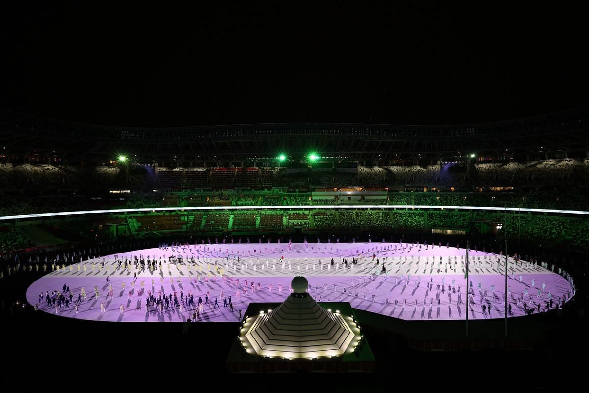 A performance during the opening ceremony.