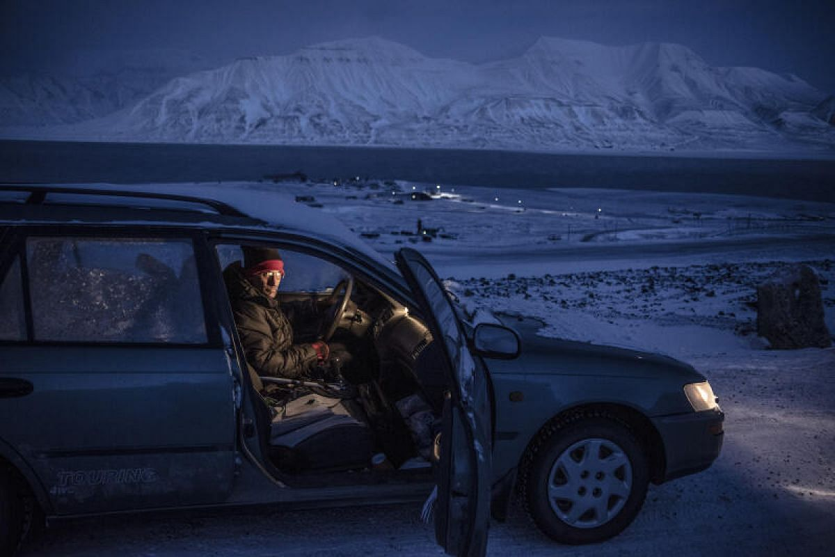 Mr Mark Sabbatini, the editor of Icepeople, a local newspaper in Longyearbyen, pictured on Feb 4 last year. The American journalist had been living in Longyearbyen for 13 years before leaving the town in July this year. He was drawn to the place afte