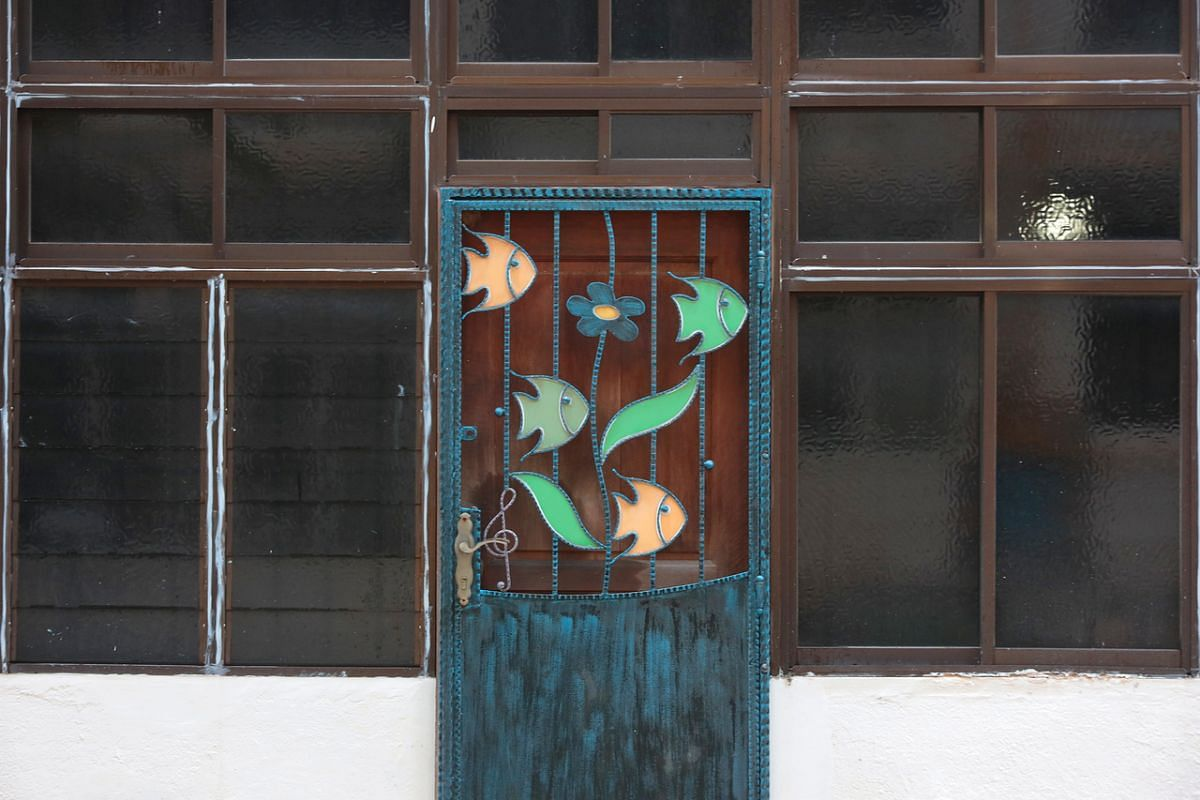 The door of a unit in Kim Cheng Street.