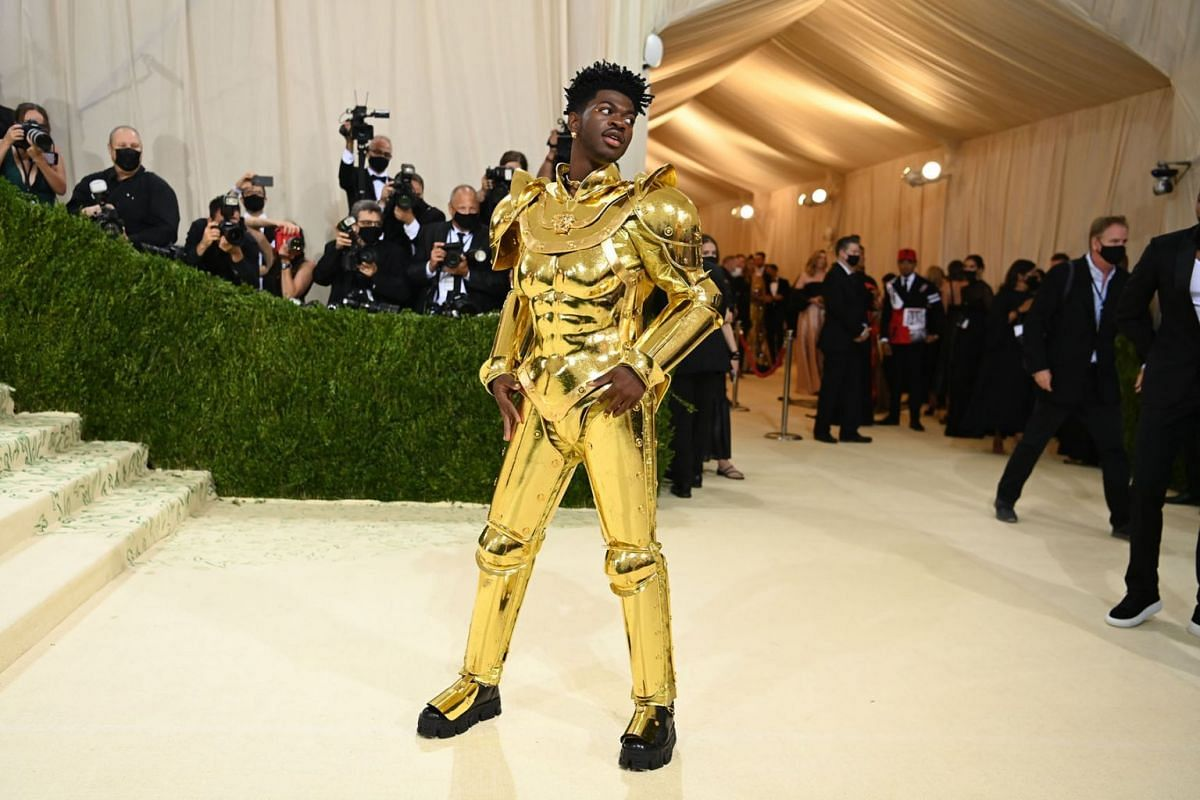 Lil Nas X at the Metropolitan Museum of Art's Costume Institute benefit gala in New York, Sept. 13, 2021.