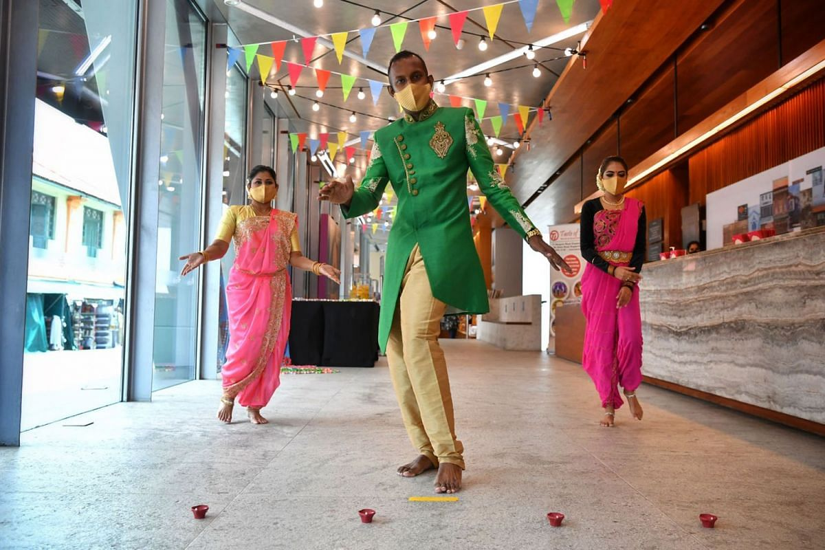 Deepavali celebrations starting next week will have heritage tours, food trails and cooking demonstrations among other activities, and a TikTok dance challenge (shown) for all races as seen in a photo taken on September 17, 2021, during a media previ