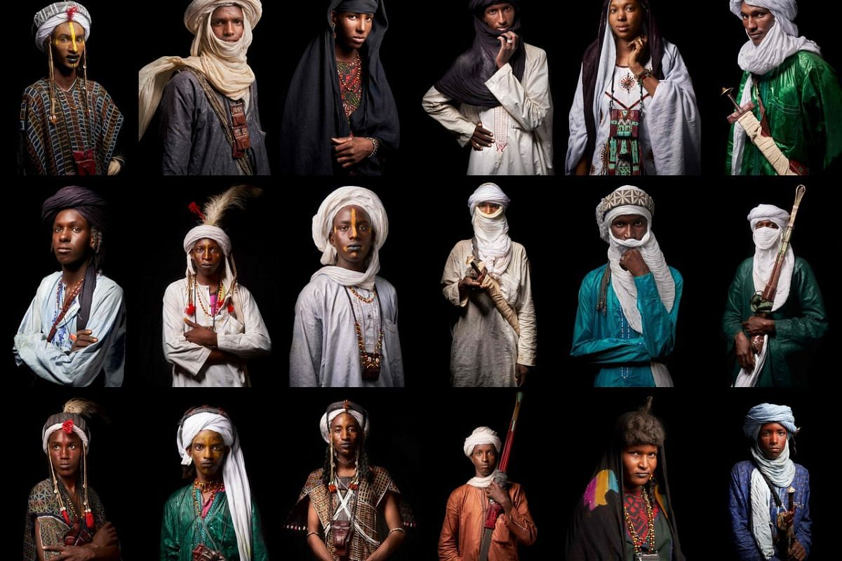 This combination of photographs taken last Saturday in Ingall, northern Niger, shows (top row from left) Baniou Gerba, 20, from Foudouk; Ibrahim Ousmane, 20, from Talmajala; Mija Djumare, 25, from Ago; Rebo Bousarijo, 20, from Tchiro; Bagam Katialla,