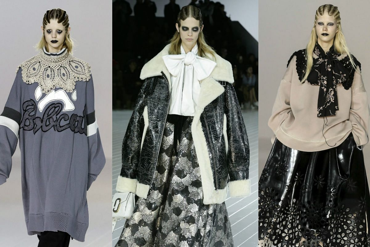 Models present creations by Marc Jacobs during his Fall/Winter 2016 collection, on Feb 18, 2016