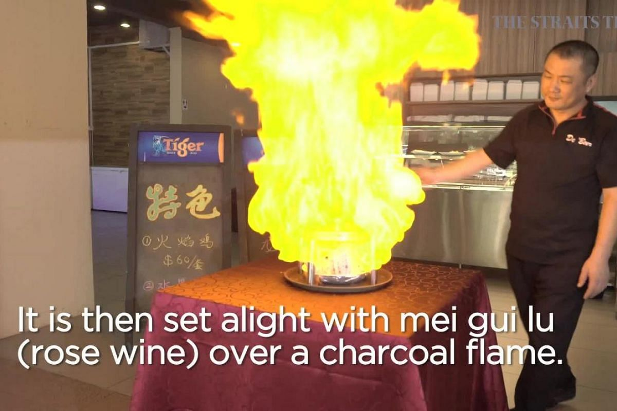 Birds on fire: Diners fired up about flambeed chicken dishes