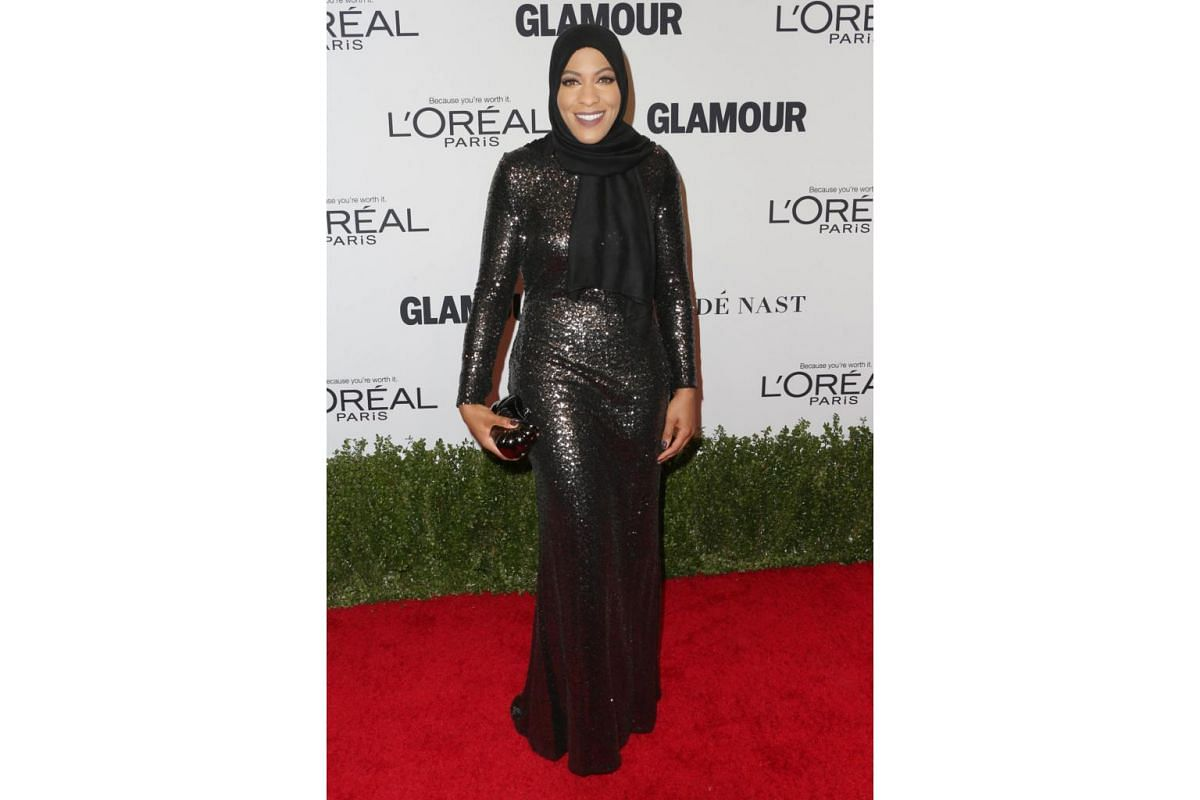 Olympic fencer Ibtihaj Muhammad attends Glamour Women Of The Year 2016 at NeueHouse Hollywood on Nov 14, 2016 in Los Angeles, California.
