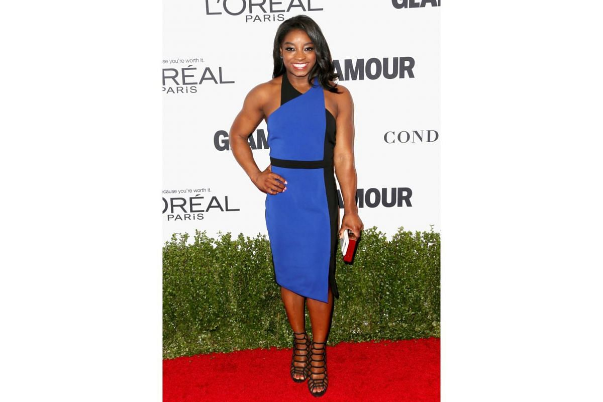 Olympic gymnast Simone Biles attends Glamour Women Of The Year 2016 at NeueHouse Hollywood on Nov 14, 2016 in Los Angeles, California.