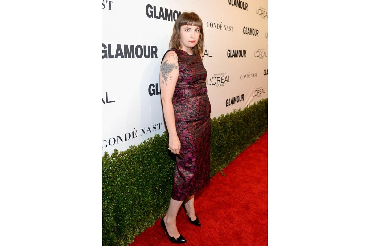 Actress/writer Lena Dunham attends Glamour Women Of The Year 2016 at NeueHouse Hollywood on Nov 14, 2016 in Los Angeles, California.