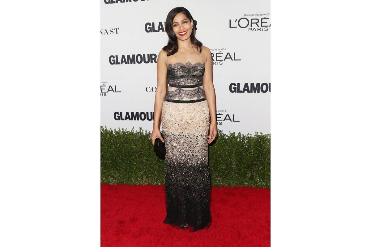 Actress Freida Pinto attends Glamour Women Of The Year 2016 at NeueHouse Hollywood on Nov 14, 2016 in Los Angeles, California.