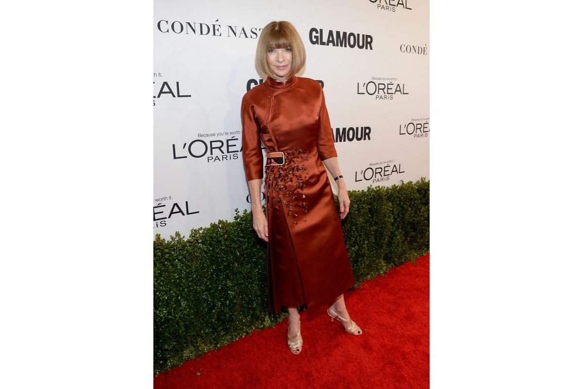 Vogue magazine Editor-in-Chief Anna Wintour attends Glamour Women Of The Year 2016 at NeueHouse Hollywood on Nov 14, 2016 in Los Angeles, California.