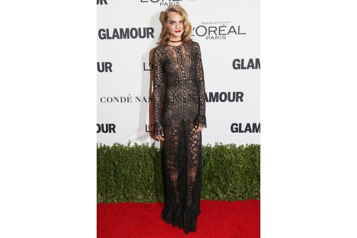 Model Cara Delevingne attends Glamour Women Of The Year 2016 at NeueHouse Hollywood on Nov 14, 2016 in Los Angeles, California.
