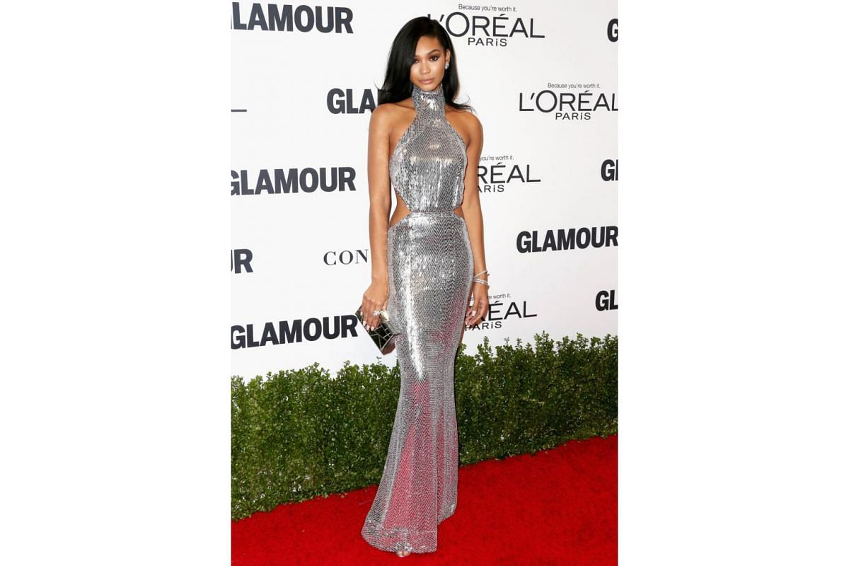 Model Chanel Iman attends Glamour Women Of The Year 2016 at NeueHouse Hollywood on Nov 14, 2016 in Los Angeles, California.