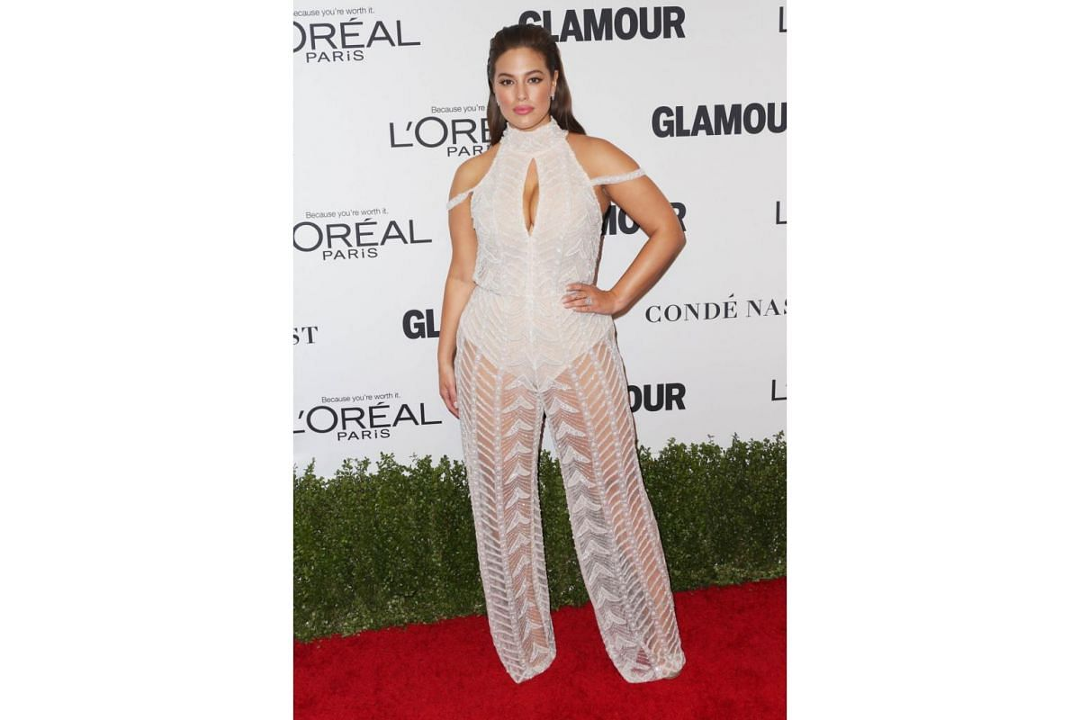 Model Ashley Graham attends Glamour Women Of The Year 2016 at NeueHouse Hollywood on Nov 14, 2016 in Los Angeles, California.