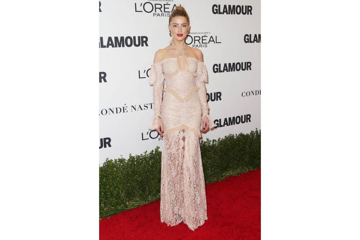 Actress Amber Heard attends Glamour Women Of The Year 2016 at NeueHouse Hollywood on Nov 14, 2016 in Los Angeles, California.