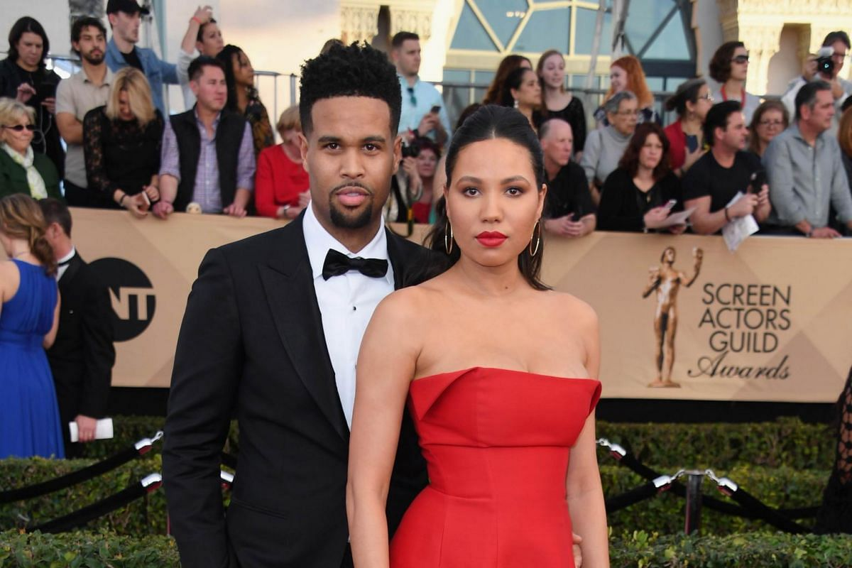 Musician Josiah Bell (left) and actress Jurnee Smollett-Bell attend the the 23rd annual Screen Actors Guild Awards ceremony at the Shrine Exposition Center in Los Angeles on Jan 29, 2017.
