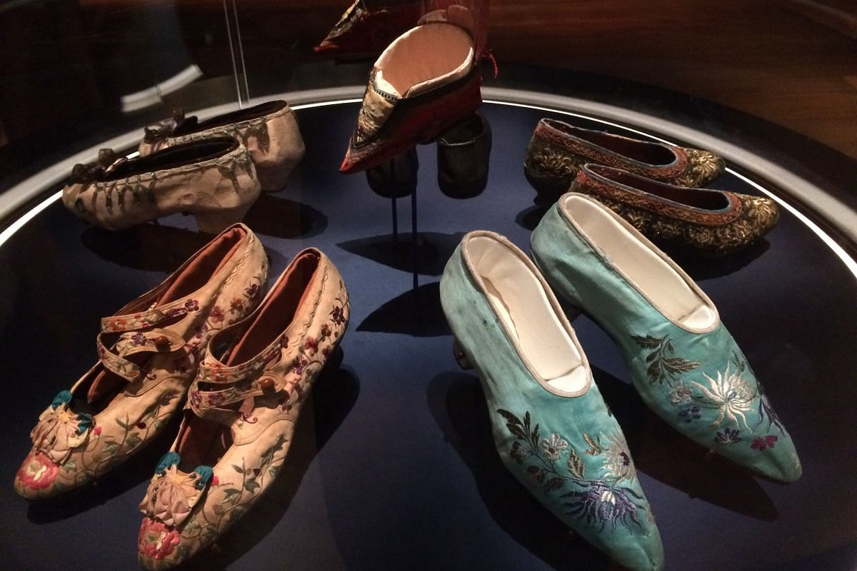 Women's shoes on display