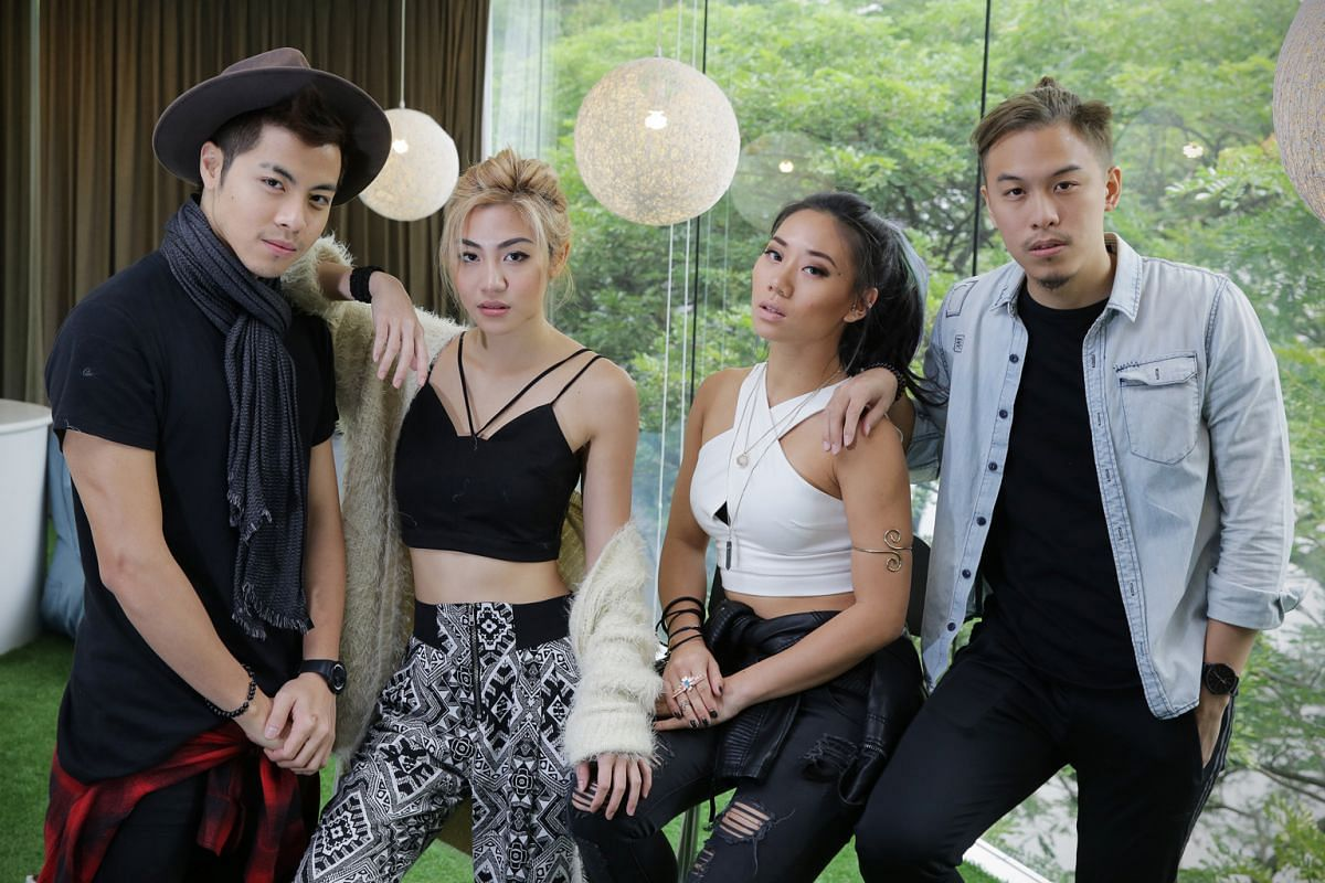 The Sam Willows, comprising from far left Benjamin Kheng, Narelle Kheng, Sandra Riley Tang and Jonathan Chua, say they appeal to those from as young as eight years old to university students.