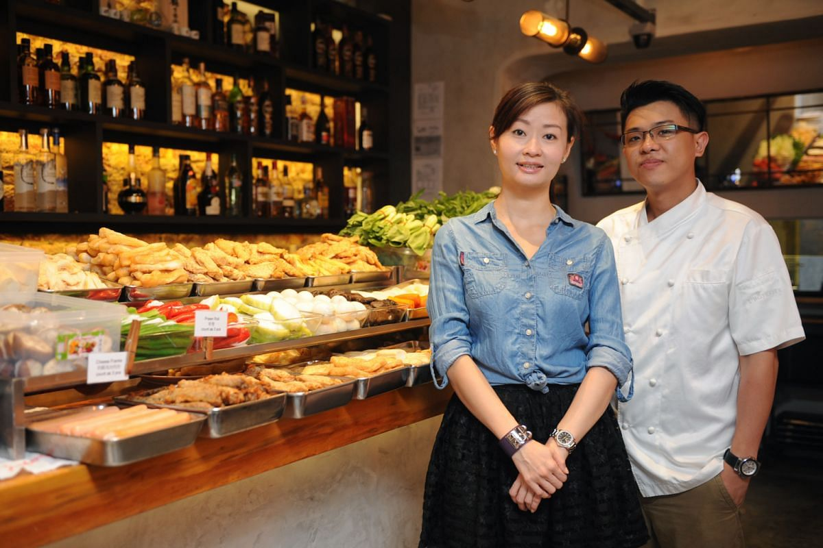 Fu Lin Bar & Kitchen, owned by Ms Karen Teoh, sells yong tau fu for lunch. After 5pm, it serves chef Warren Poh's tapas.