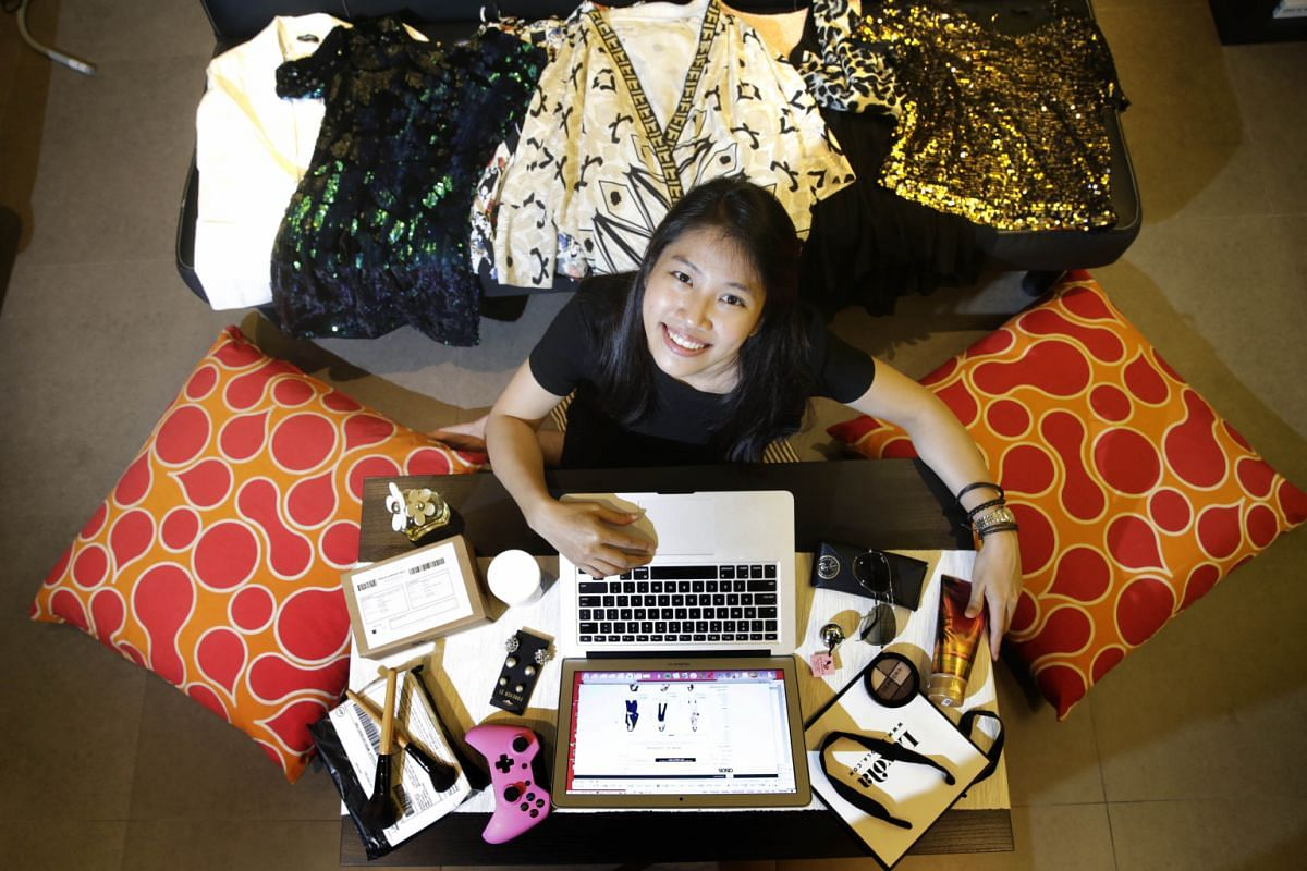 Ms Josephine Chow with her recent online purchases. She has shopped online during Black Friday before and plans to do so again this year.