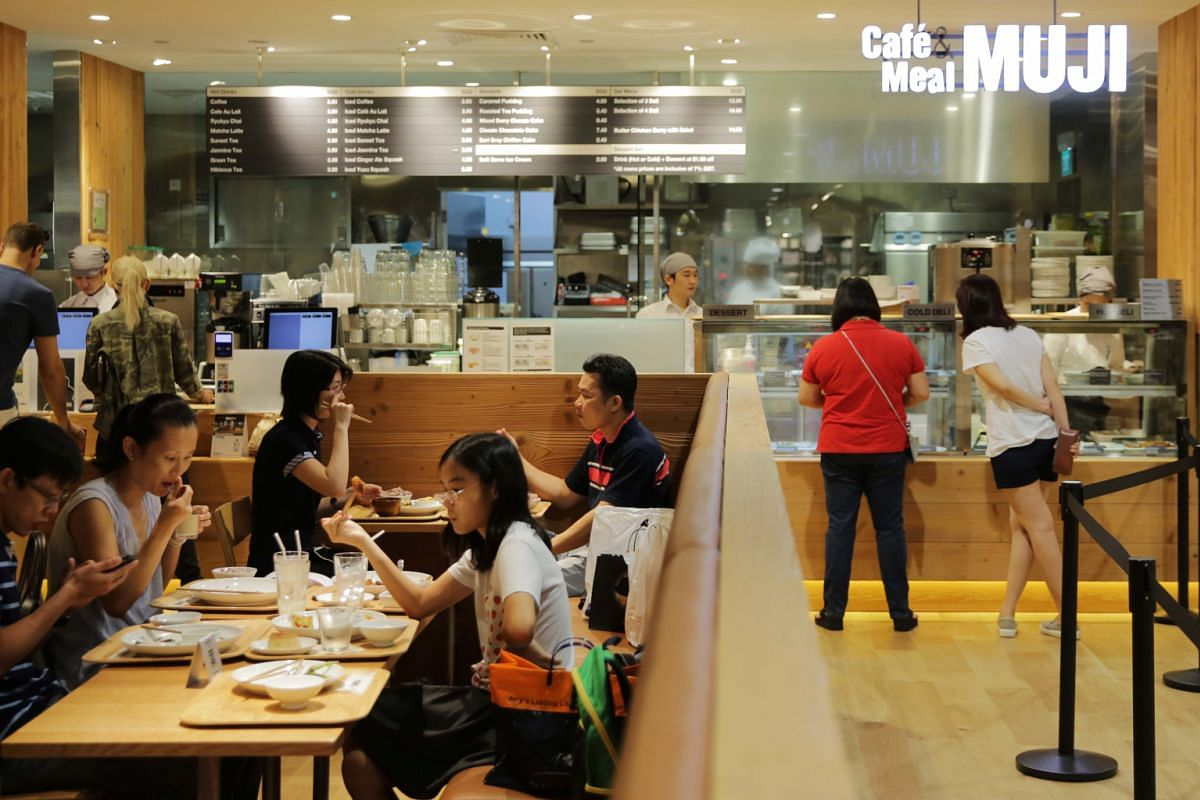 Shoppers are welcome to linger at the cafes within multi-label boutique Kapok at the National Design Centre, In Good Company at Ion Orchard and Cafe&Meal at Muji in Paragon (above).