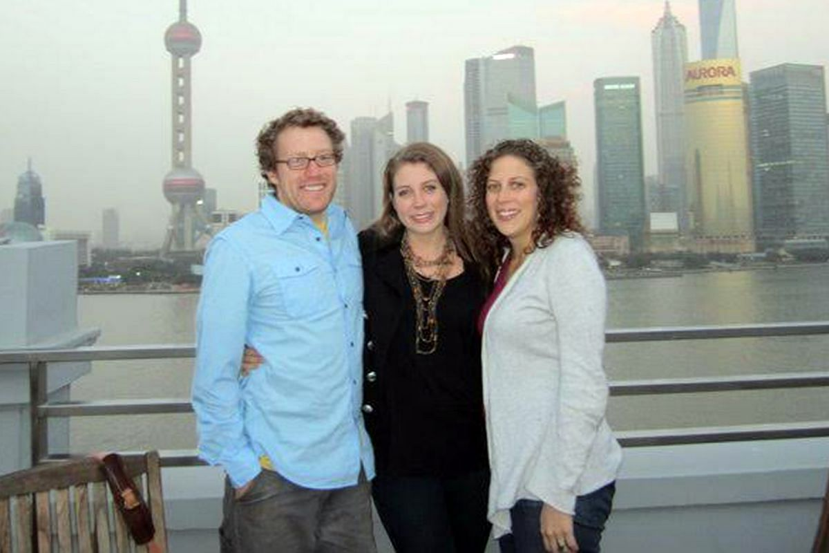 My Life So Far: Ms Alexis Horowitz- Burdick (centre) with her younger siblings Max and Jill in Shanghai in 2010.