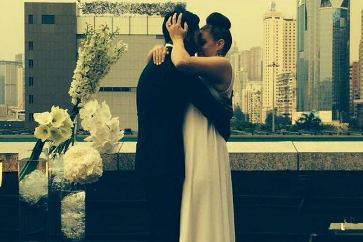 My Life So Far: Ms Horowitz- Burdick with her husband Aman Bedi (both above) at their wedding in Hong Kong last year.