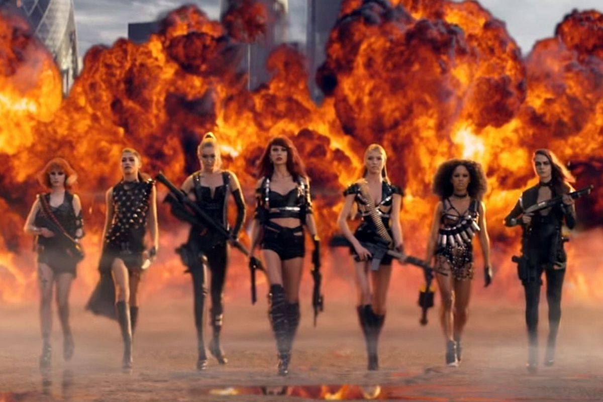 Taylor Swift (centre) in Bad Blood.