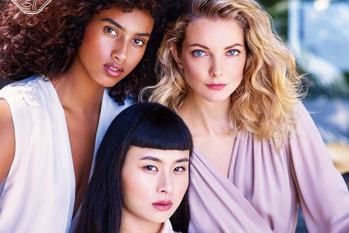 New faces of Shiseido: (Clockwise from top left) Dutch model Imaan Hammam, Hungarian model Eniko Mihalik and Asian-American socialite and model Asia Chow. Shiseido's chief executive officer Masahiko Uotani (right) and the company's White Lucent night